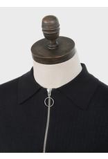 Art Gallery Polo in schwarz mit Reißverschluss