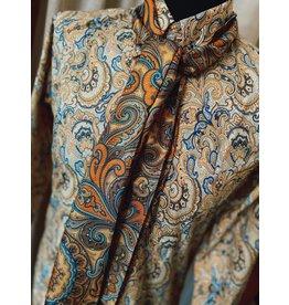 Relco London Hemd mit Paisleymuster in gelb und blau