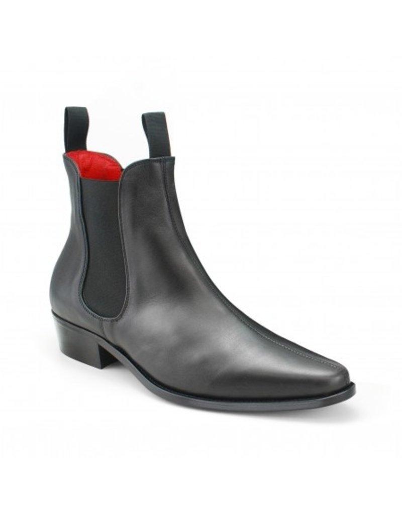 Beatwear Liverpool Classic Boot in schwarzem Leder