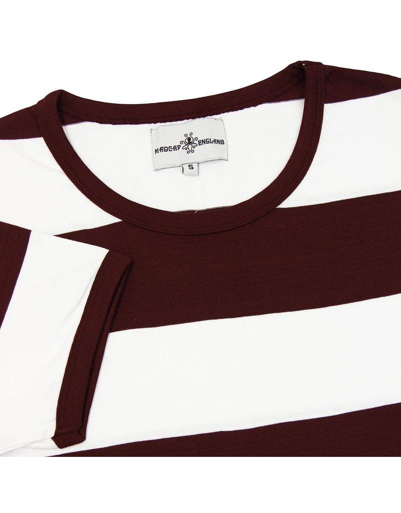 Madcap England T-Shirt mit breiten Streifen in rot/weiß