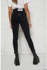 The Ragged Priest Schmale High Waist Jeans schwarz
