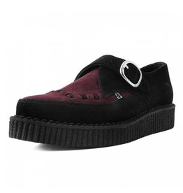 T.U.K. Footwear Suede Monk Buckle Pointed Creeper
