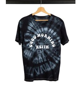 Good Morning Keith Black Tye & Dye T-Shirt