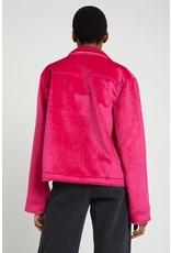 The Ragged Priest Jacke aus veganem Ponyfell in pink