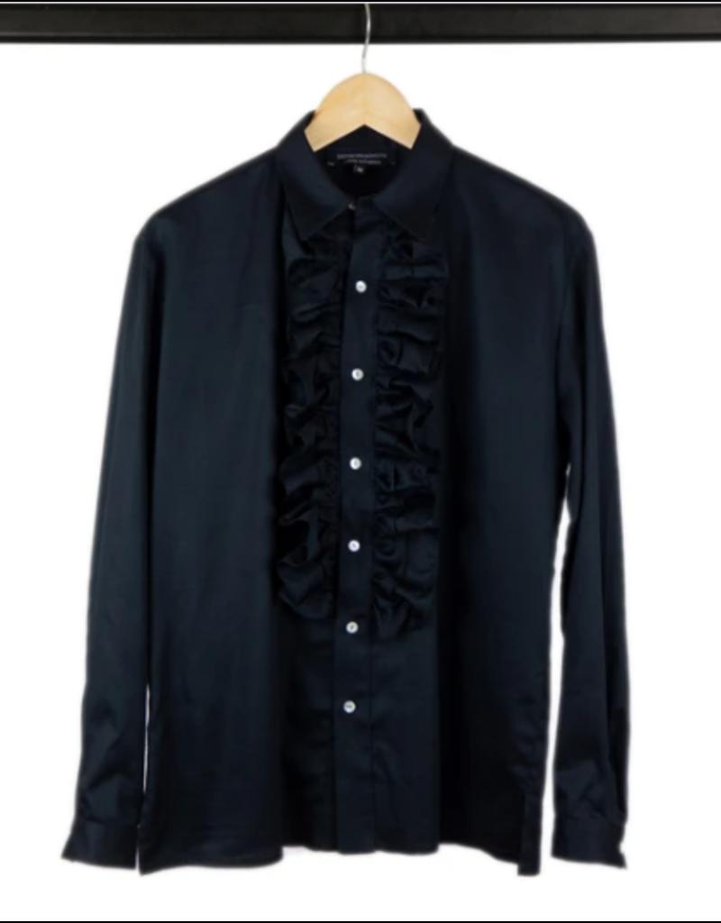 Good Morning Keith Hemd mit auffälligem Kragen in schwarz