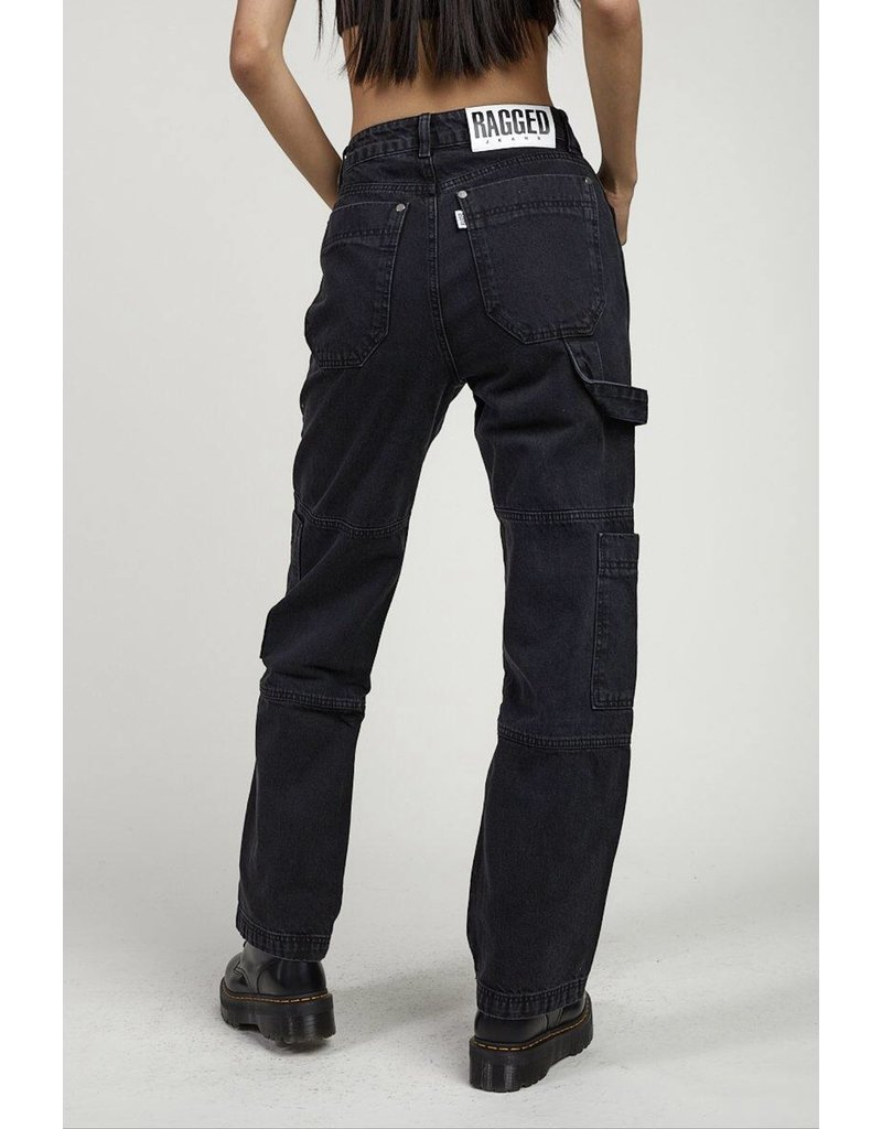 The Ragged Priest Jeans Cargo in schwarz