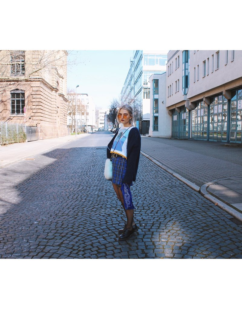 Liv Schwarz liv schwarz - Rock kariert mit hohem Bund