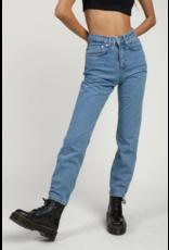 The Ragged Priest Gerade geschnittene light Jeans mit hoher Taille