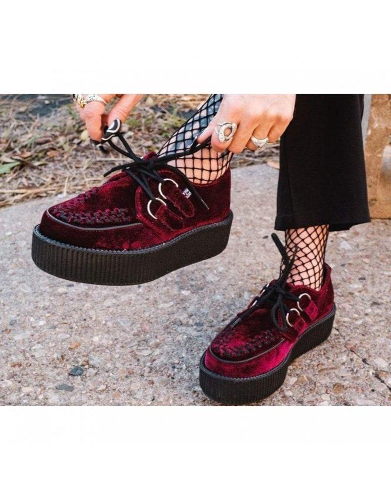 T.U.K. Footwear Creeper Double Samt in rot