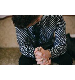 Chenaski Polka Dot Hemd in schwarz/weiß