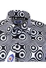 Madcap England Trip Op Art Mod Hemd