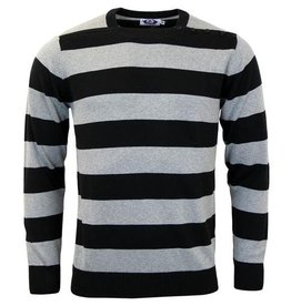 Madcap England Pulli mit Blockstreifen in grau, schwarz