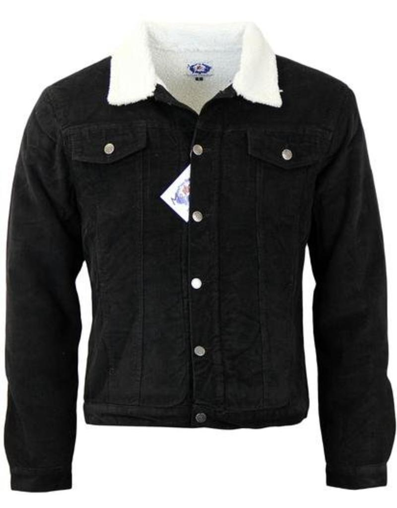 Madcap England Contender Sherpa Lined Cord Jacket Black