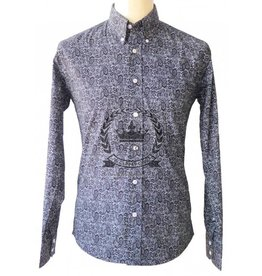 Relco London Paisley Hemd in schwarz