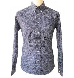 Relco London Paisley Hemd in schwarz