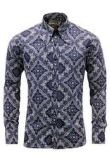 Madcap England Bandana Paisley Mod Hemd in navy