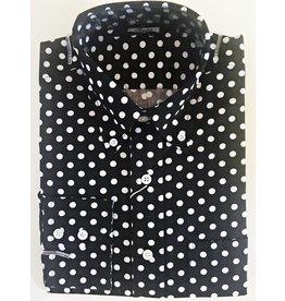 Relco London Polka Dots Hemd in schwarz