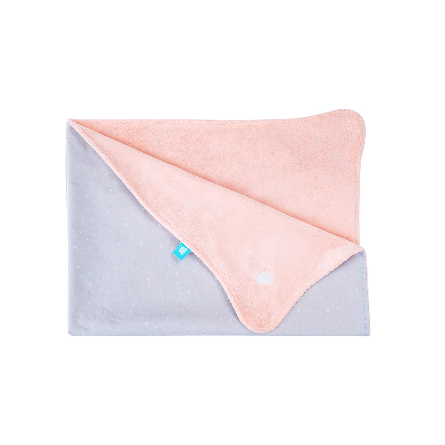 myHummy De Sleeephearts' Favoriete Deken - roze/grijs