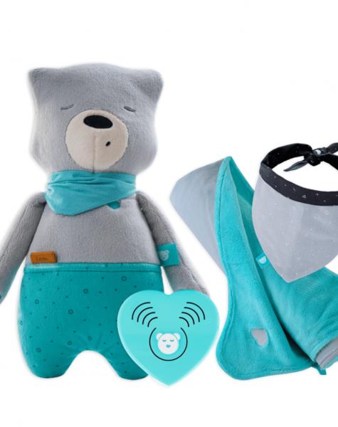 myHummy Lot ourson avec application et couvertures préférées + bandana