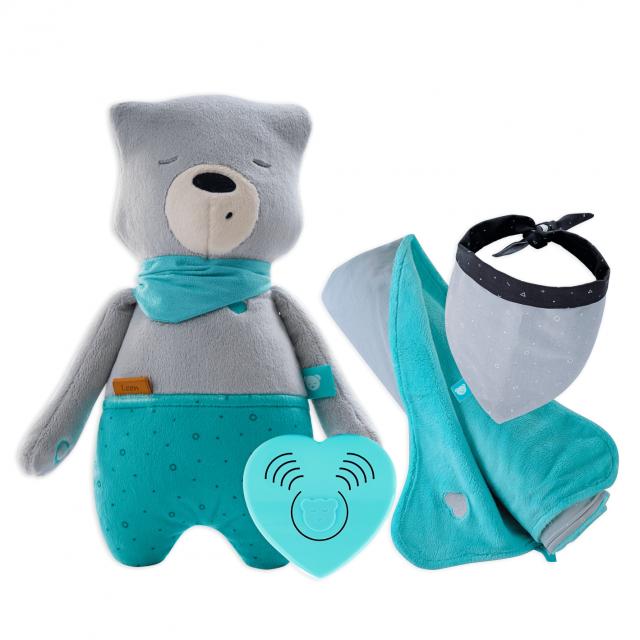 myHummy Set Bär mit Schlafsensor & Lieblingsdecke + bandana