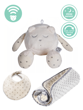 myHummy Set Snoozy with sleep sensor & winter blanket + bib