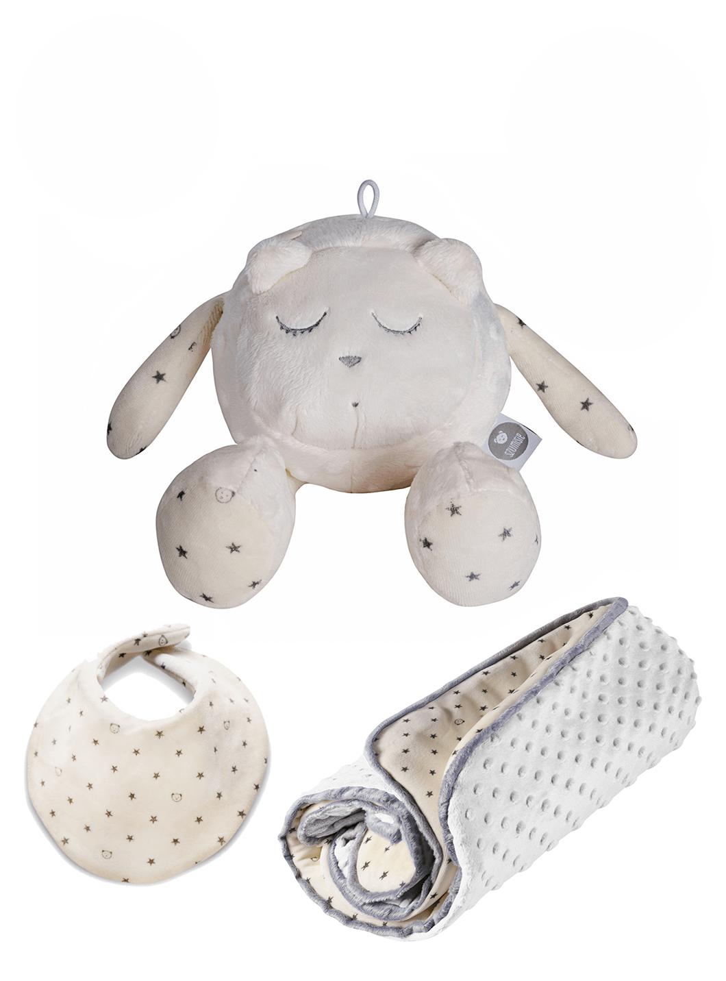 myHummy Set Snoozy con sensore di movimento e copertina invernale + bavaglino