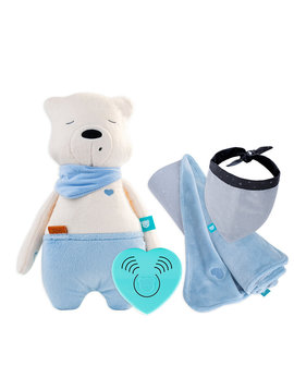 myHummy Set bear with sleep sensor & Favorite Blanket + bandana