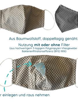myHummy Stoffmaske für Erwachsene mit einem Filter