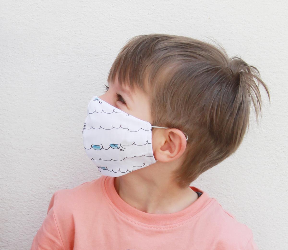myHummy Stoffmaske für Jungs (6j - 12j) mit einem Filter