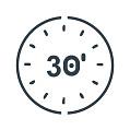 30 Minuten Spielzeit