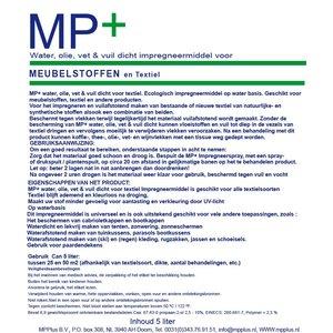 MP+ Water, olie, vet & vuildicht impregneermiddel voor meubelstoffen 5 Liter