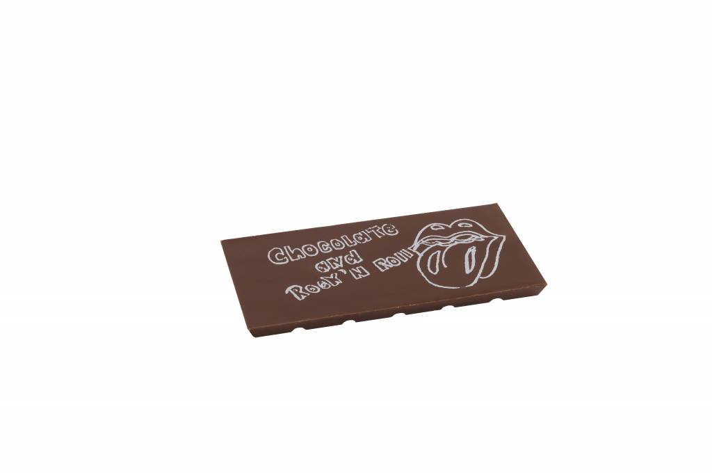 The Chocolate Line By Dominique Persoone Message on a bar - DIY