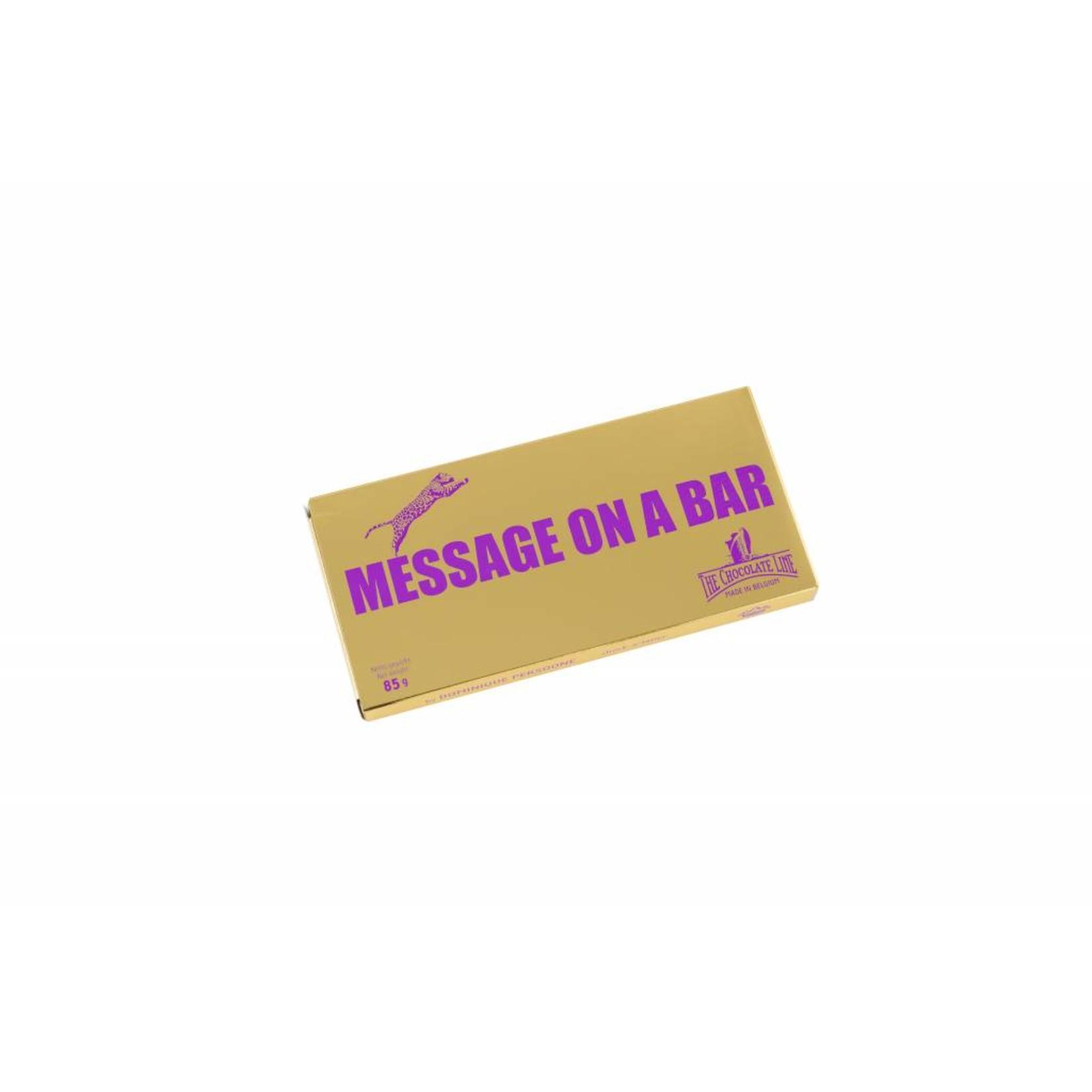 Message on a bar - Geschreven reep