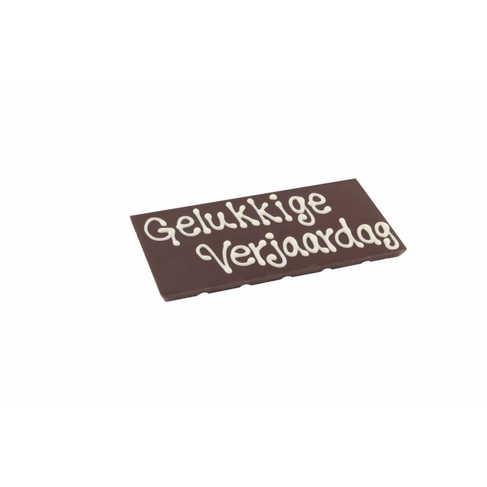 Message on a bar with chocolate text