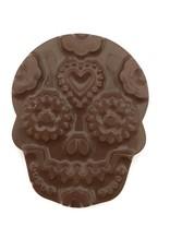 The Chocolate Line By Dominique Persoone Skull gevuld met hazelnootpraliné - puur