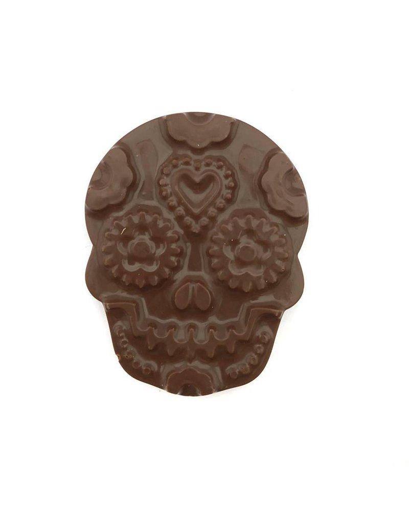 Skull filled with hazelnutpraliné - Dark Chocolate