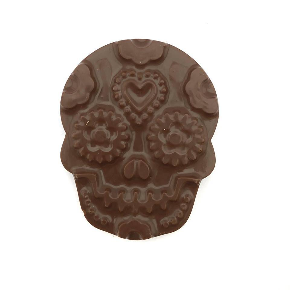 The Chocolate Line By Dominique Persoone Skull filled with hazelnutpraliné - Dark Chocolate