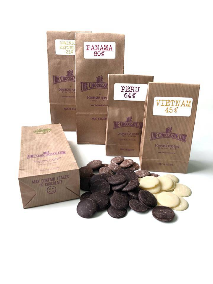 The Chocolate Line By Dominique Persoone Chocolate drops 250g  - Copy