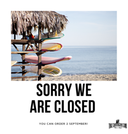 Webshop closed