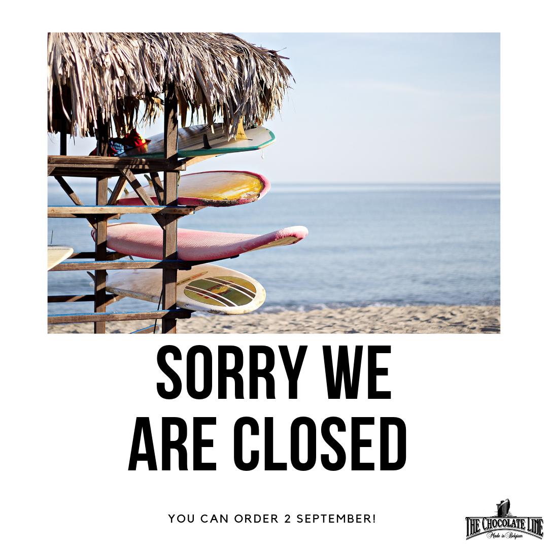 Webshop Summer Closing