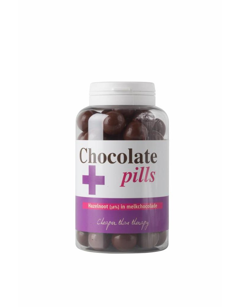 Chocolate pills with hazelnut