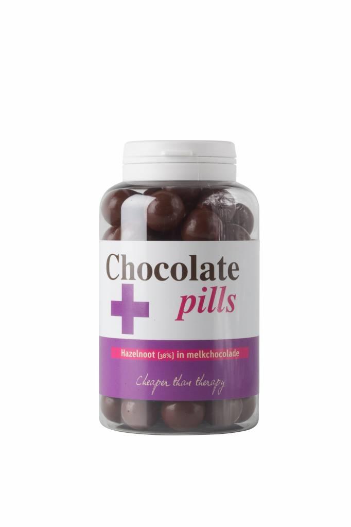 Chocolate pills with hazelnut