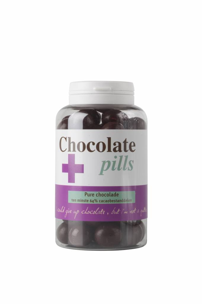 Chocolate pills with pure chocolate