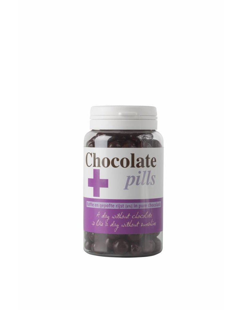 Chocolate pills with coffee and rice