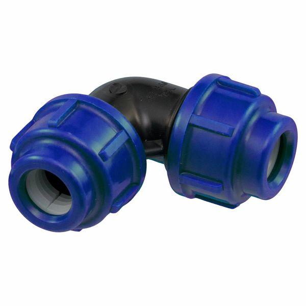 Pro-acqua Polypropyleen knie  32 x 32 mm haaks - knie / haakse koppeling – waterleiding / tyleenslang– tuin