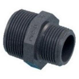 """Pro-acqua Draadnippel PVC 1""""X 3/4"""" MM"""