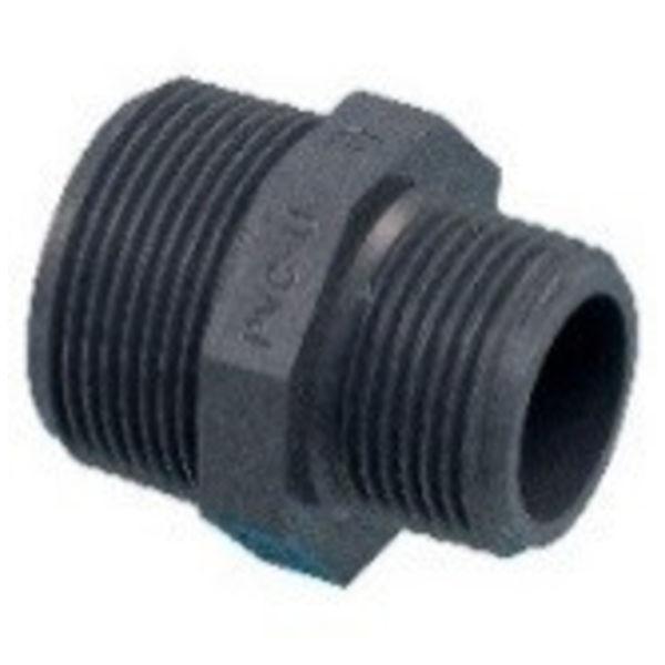 """Pro-acqua Draadnippel PVC  3/4"""" x 3/4"""" MM"""