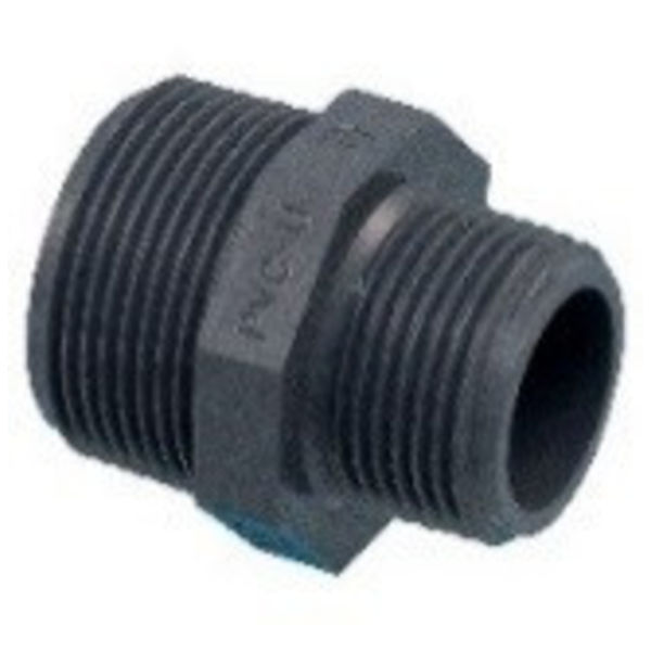 """Pro-acqua Draadnippel PVC  3/4"""" x 1/2"""" MM"""