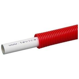 Levica-Superpipe Flexibele meerlagen buis  Ø 16 - 2. mm 100 meter rood