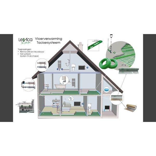 """Beelden Vloerverwarming  CV """"the Green Pipe"""""""